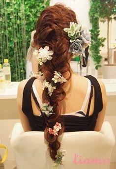 とっても可愛い花嫁さまのこだわりお洒落Wedding♡♡ の画像 大人可愛いブライダルヘアメイク『tiamo』の結婚カタログ