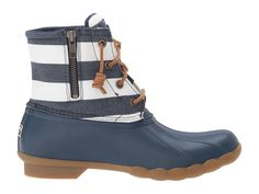 Sperry Saltwater Prints Women's Rain Boots Navy/Bretton