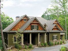 Rustic Lodge Home Plan