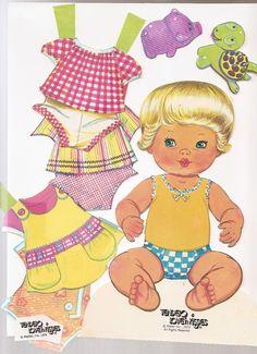 PAPER DOLL Baby Tender Love n Kisses 1978 doll by nancesnostalgia
