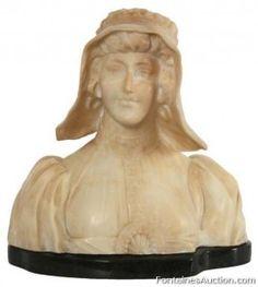 A. Cipriani Italian Carved Alabaster Bust – LOT 170 Estimate: $300-$500