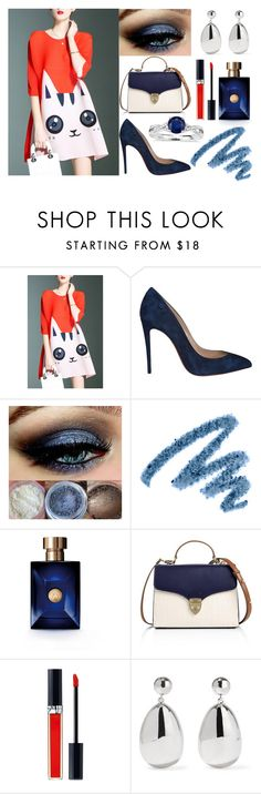 """Sem título #37"" by ab-roberts on Polyvore featuring moda, Christian Louboutin, Yves Saint Laurent, Versace, Aspinal of London, Christian Dior, Sophie Buhai e Blue Nile"