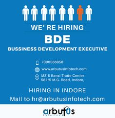BDM Indore, Help Wanted Ads, Hiring Poster, Trade Center