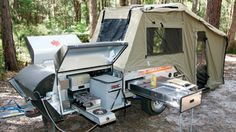 army off road camping trailer | ... to a Toyota Prado for a 4WD off-road camper trailer education course