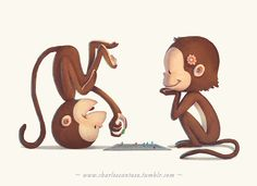 Here's some happy monkeys for you :) Ook! Ook!