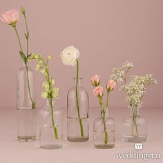For cocktail tables? Decorating Glass Bottle Set - Weddingstar