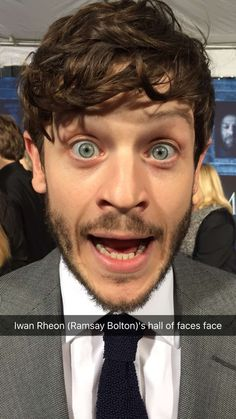 Iwan Rheon at the Game of Thrones premiere red carpet
