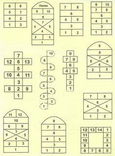 variety of hopscotch designs