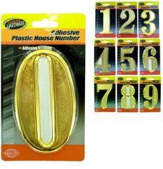 adhesive plastic house numbers Case of 15