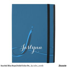 Snorkel Blue Royal Solid Color Personalized iPad Pro Case