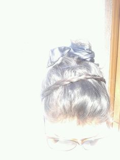 Hairbraid with ribbon