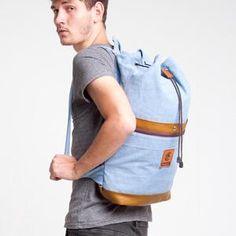 ESGOTADO SAILO PRIMEIRO LIGHT BLUE DENIM Backpacks, Bags, Fashion, Handbags, Moda, Fashion Styles, Backpack, Fashion Illustrations, Backpacker