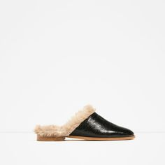 7de45506c12e LINED LEATHER MULES from Zara  69.90 Mules Shoes