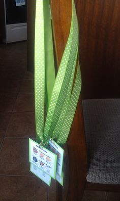 Lanyard with cookie cheat sheet for each girl to wear at booth sales