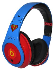 Discount Monster Beats By Dr. Dre Studio Superman Dwight Howard Headphones Blue with Red