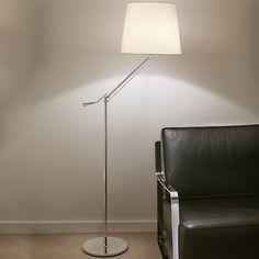 Chelsom Angle Floor Lamp Brushed Nickel