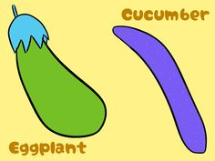Color Changed ''Eggplant And Cucumber'' / #Food #Vegetable #XGA