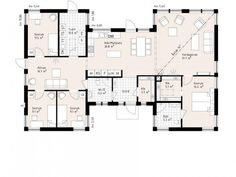 Bildresultat för planritningar i form av ett h Architectural Floor Plans, 4 Bedroom House Plans, Castle House, Sims House, House Layouts, Small House Plans, Building A House, New Homes, How To Plan