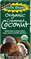 """Let's Do Organic Coconut products - LOVE the Coconut cream in boxes. No additives, JUST coconut and can use """"thick"""" for sauce, thin and use as """"coconut milk"""" and it keeps a long, long time."""
