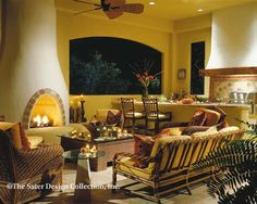 """The Sater Design Collection's luxury, Spanish home plan """"Sancho"""" (Plan #6947). saterdesign.com"""