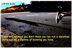 """So true...having run a variety of races, including 5ks, 10ks, 1/2 marathons, a marathon and triathlons..some training days are just different. However, just keep doing and know that one """"bad"""" or """"good"""" training day does not define you. The fact that you keep  persevering does..."""