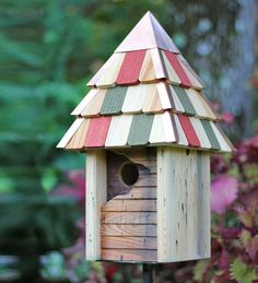 Vintage Gatehouse Cypress Birdhouse   Birdhouses   Better than antique, the charming Gatehouse Birdhouse enchants birds and bird watchers alike with its weathered look and whimsical design. Meticulous, hand-crafted construction from premium solid wood ensures modern functionality and generations of sturdy use.