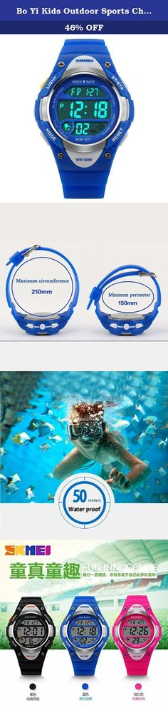 Bo Yi Kids Outdoor Sports Children's Waterproof Wrist Dress Watch With LED Digital Alarm Stopwatch Lightweight Silicone for Boy Girl (Blue). Product Description Highlights: • Original Japanese Movement: provide precise and accurate time keeping • Excellent ABS Plastic case and Stainless Steel case back • Germany Imported PU Resin Strap • Highly Transparent Resin Glass, not easy to wear • Stainless Steel Buckle • 50M Water Resistant: Daily Use Waterproof, Hand Wash, Shower, Swimming, NO...