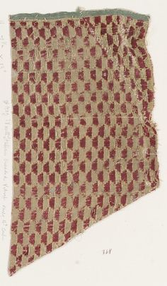 Fragment Date: early 16th century Culture: Northern Italian Medium: Silk, metal thread Classification: Textiles-Velvets Accession Number: 2002.494.428