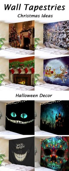 Halloween & Christmas decor ideas for the home:wall tapestries