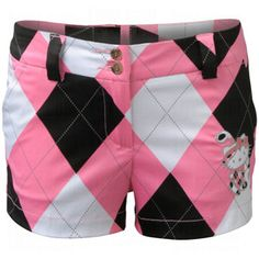 511c24447d5 Loudmouth Ladies Hello Kitty Shorts pink white and black Hello Kitty Clothes,  Ladies Golf,