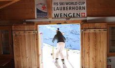 Lauberhorn Downhill race course start @Wendy Douglas @Annah Pennebaker Longest fastest World Cup Downhill Course!