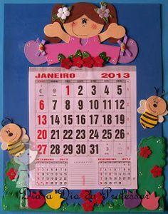 Calendário decorado para sala de aula