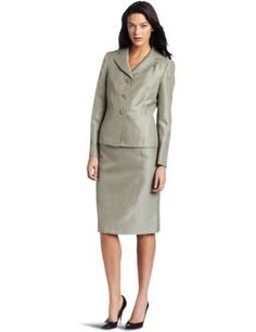 Lesuit Women's Twill Skirt Suit