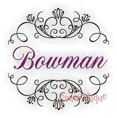 Bowman Font Frame - 6 Sizes! | Font Frames | Machine Embroidery Designs | SWAKembroidery.com Embroitique