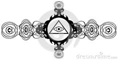 Illustration representing a version of one of the most esoteric symbol: the All-Seeing Eye