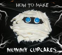 Mummy Cupcakes #halloween #food