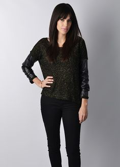 Bobo Metallic Sweater (Black/Gold)