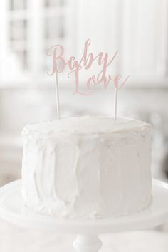 DIY Baby Love Cake Topper | Watercolour Baby Shower #Baby_Shower