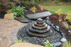 Disappearing Fountain, Pondless Fountain  Fountain and Garden Pond  Fieldstone Design  Leominster, MA