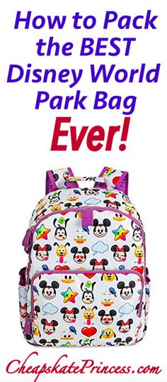How to Pack the BEST Disney World Theme Park Bag Ever! | plan a better Disney vacation | #disney #disneyvacation #disneybag