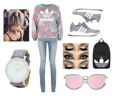 """Adidas"" by londonevann on Polyvore featuring adidas Originals, Yves Saint Laurent, adidas, Topshop and Larsson & Jennings"