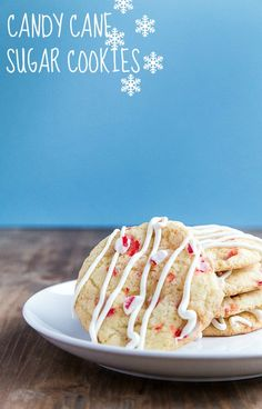 Drop sugar cookies made with crushed candy canes. Santa told me he wants these. @dessertfortwo
