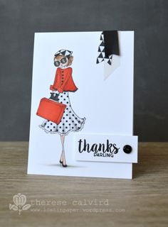 Lostinpaper - Uptown Girl Stamping Bella / Avery Elle / Thanks card
