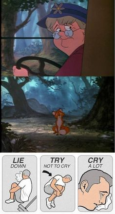 Your procedure for crying goes something like this: | 25 Signs You Grew Up With Disney