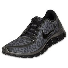 Animal print running shoes?! Yes or no? Nike Free 5.0 V4 Women's Running Shoes at Finish Line