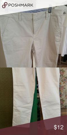 Light khaki summer pants. More skinny leg Ankle or shorter khaki pants. Flat front. jcpenney Pants Ankle & Cropped