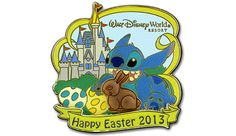 Walt Disney World Easter Pin 2013  Stitch can't seem to stay away from the delicious chocolate bunny's during Easter on this limited edition pin.