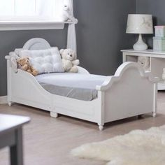A grown-up style toddler bed.