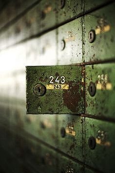 Bergwerk Locker by Mondorama - Abandoned safety deposit boxes Story Inspiration, Writing Inspiration, Character Inspiration, Abandoned Buildings, Abandoned Places, Branding And Packaging, Deposit Box, Letters And Numbers, Photos