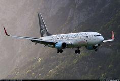 Boeing 737-8Z9, Austrian   Airlines - Star Alliance landing  in Innsbruck Austria valley  Photographer Jahnel Klaus